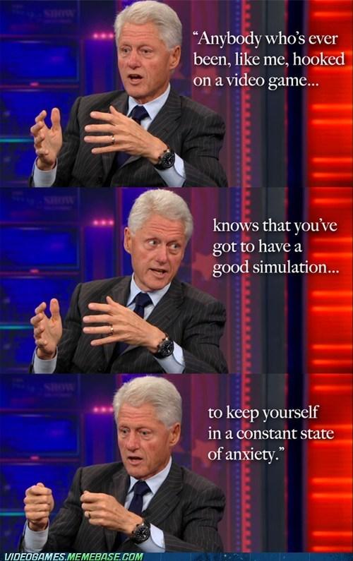 Bill Clinton is a Gamer