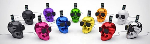 accessories,dock,elecronics,iphone,Music,skulls,sound system,speakers,sunglasses