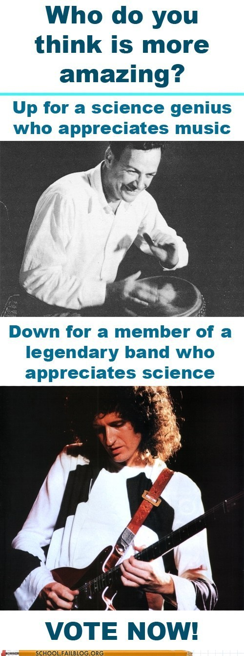 Richard Feynman vs. Brian May