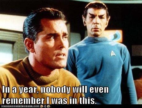 captain pike,Spock,Leonard Nimoy,the cage,remember,pilot,Jeffrey Hunter