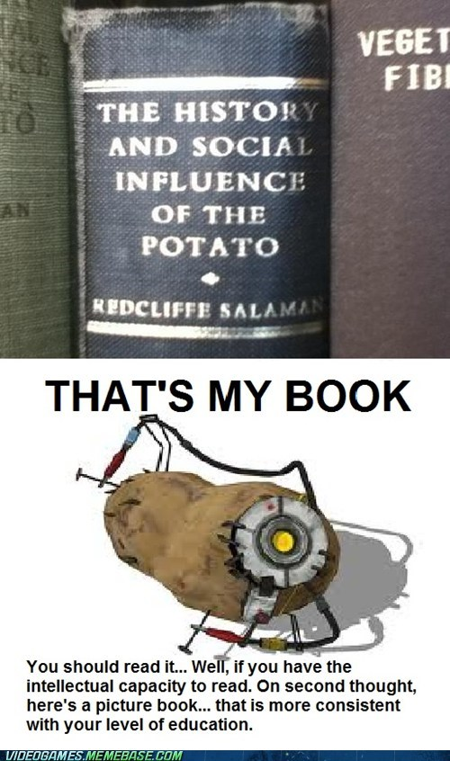 biography,gladOS,Portal,potato