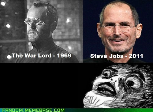 doctor who,Memes,raisin face,steve jobs,the war lord