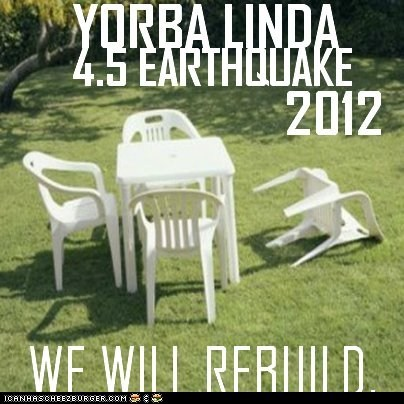 Yorba Linda Earthquake 2012