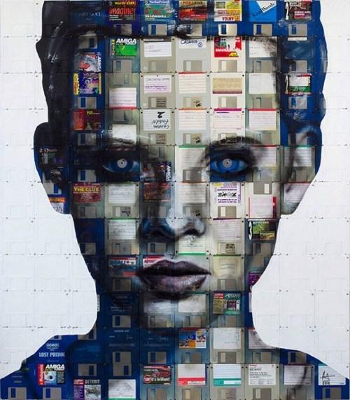 floppy disk art,nick gentry,workplace win