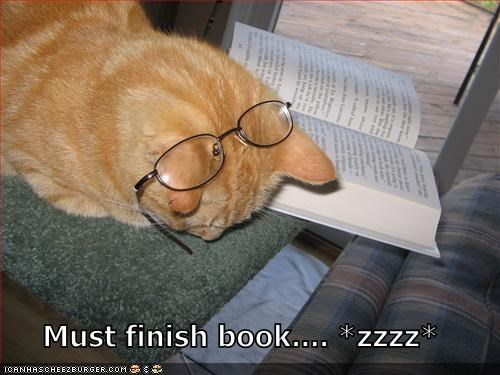 Must finish book.... *zzzz*