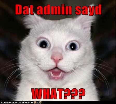Dat admin sayd  WHAT???