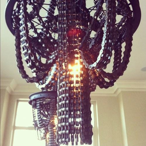 Bicycle Chain Chandeliers by Carolina Fontoura Alzaga