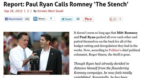 "Paul Ryan Does Not Call Mitt Romney ""The Stench"""