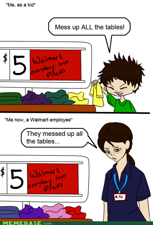 all the things,kid,staff,tables,Walmart