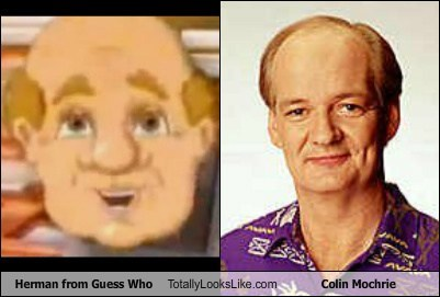 celeb,colin mochrie,comedian,funny,game,guess who,herman,TLL