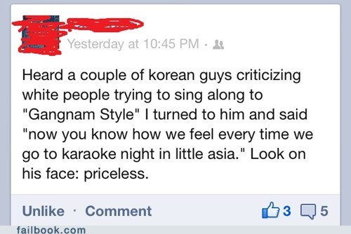 Failbook: Karaoke vs. Gangnam