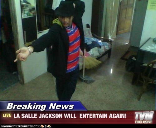 Breaking News - LA SALLE JACKSON WILL  ENTERTAIN AGAIN!