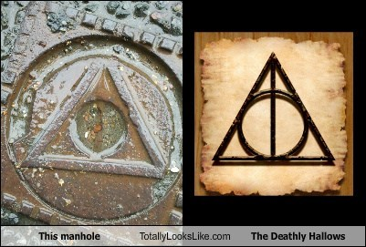 This Manhole Totally Looks Like The Deathly Hallows