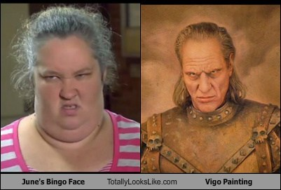 June's Bingo Face Totally Looks Like Vigo th Carpathian Painting