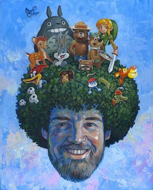 art,bob ross,celeb,painting