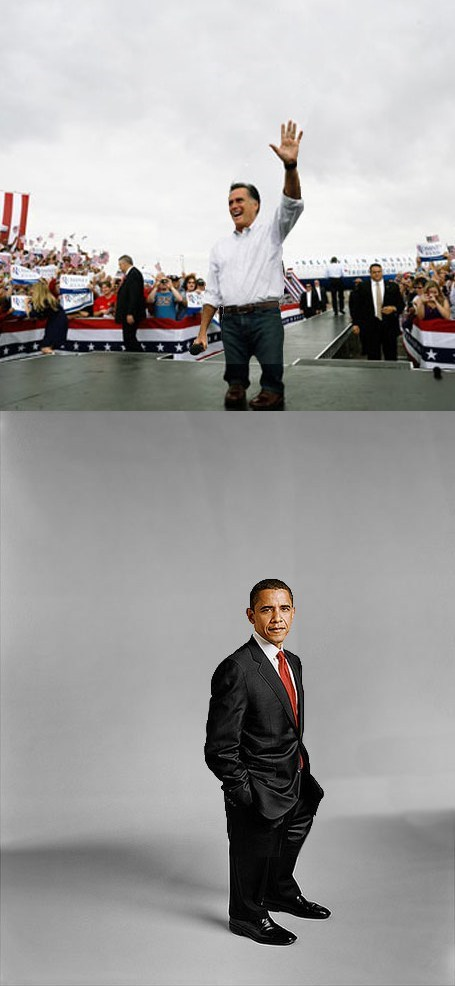 barack obama,candidates,corgis,Mitt Romney,photoshop,short