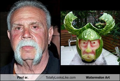 Paul Sr. from Orange County Choppers Totally Looks Like Watermelon Art