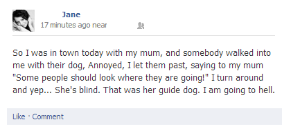 i'm going to hell,guide dogs,blind people