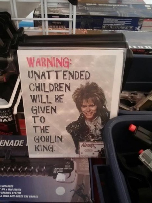Parenting Fails: Goblin King!