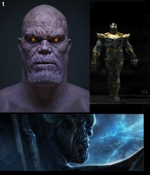 Avengers Concept Art for Thanos