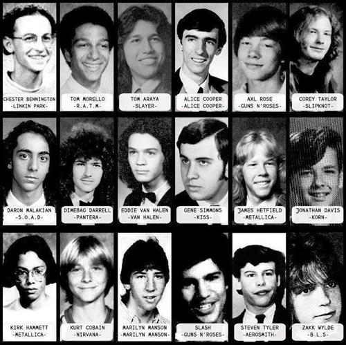 funny,Gene Simmons,high school,KISS,kurt cobain,Music,slash,steven tyler,van halen,yearbook