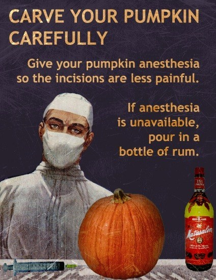 Alcoholic Pumpkin Carving Tips