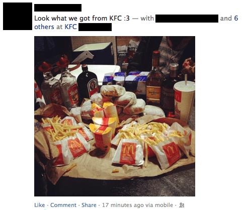 cheeseburgers,diet coke,fast food,fries,kfc,McDonald's,quarter pounders