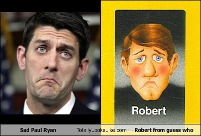 Totally Looks Like: Sad Paul Ryan Totally Looks Like Robert from Guess Who