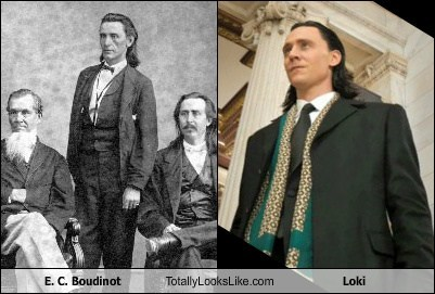 E. C. Boudinot Totally Looks Like Tom Hiddleston (Loki)