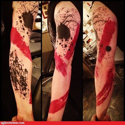 arm tattoos,abstract