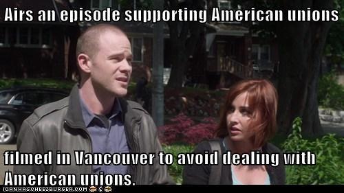 warehouse 13,episode,unions,Canada,scumbag,meme