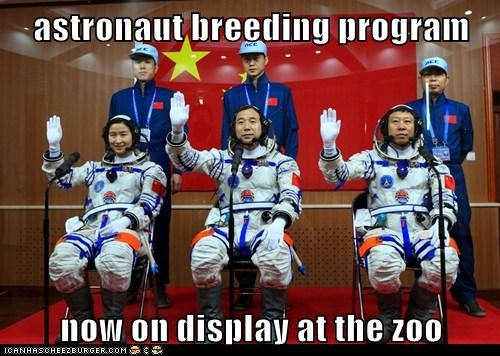 astronaut breeding program  now on display at the zoo