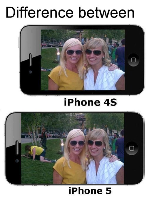 Difference between iPhone 4S & iPhone 5