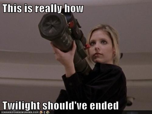 buffy summers,how it should have ended,twilight,Buffy the Vampire Slayer,Sarah Michelle Gellar,bazooka