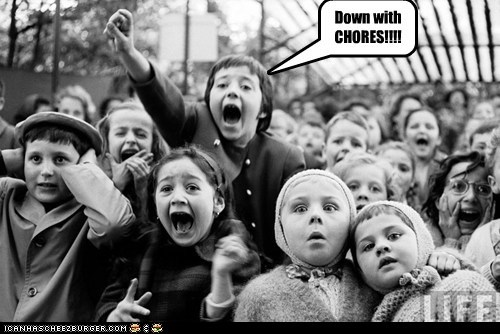 kids,crowd,children,chores,yell,Protest