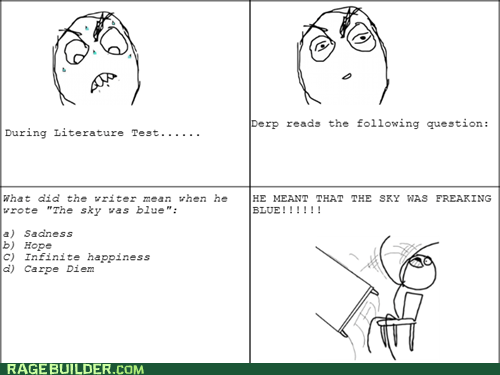 Rage Comics: Literature Test