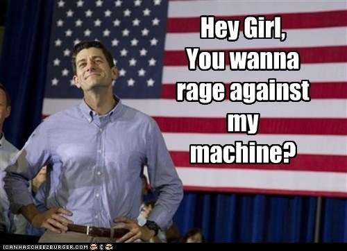 paul ryan,girl,rage against the machine,flirting