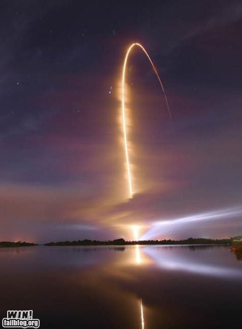Night Time Space Shuttle Launch WIN