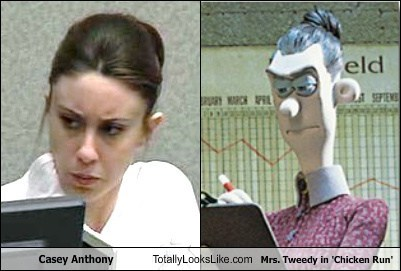 Casey Anthony Totally Looks Like Mrs. Tweedy in 'Chicken Run'