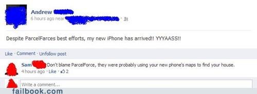 apple,apple maps,crapple maps,ios 6,iphone,iphone 5,parcelforce