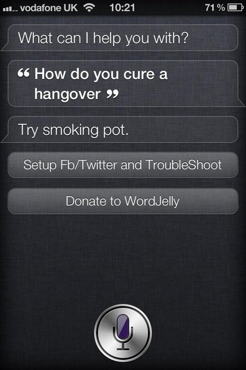 cured,hangover,Medical Marijuana,pot,siri