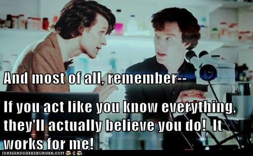 benedict cumberbatch,works,the doctor,Matt Smith,doctor who,act,Sherlock,believe