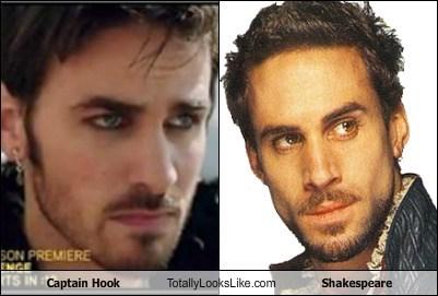 Colin O'Donoghue (Captain Hook) Totally Looks Like Joseph Fiennes (Shakespeare)