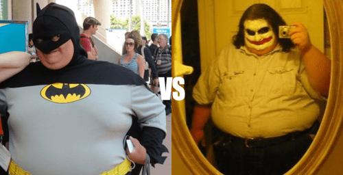 batman,joker,fat,obese
