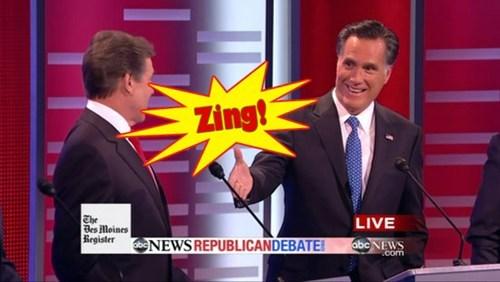 """Mitt Romney is Practicing """"Zingers"""" for Debates"""