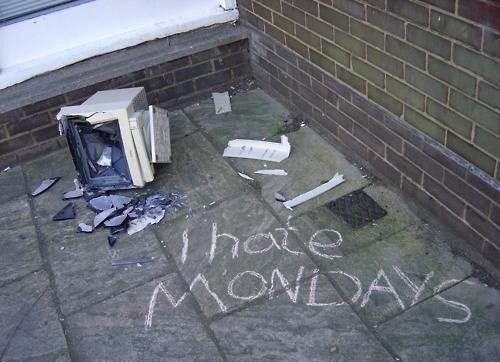 i hate mondays,computer,broken computer