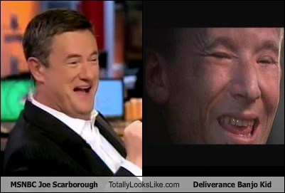 MSNBC's Joe Scarborough Totally Looks Like Deliverance Banjo Kid