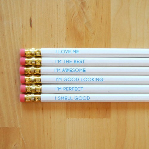 Self-Esteem Pencils WIN