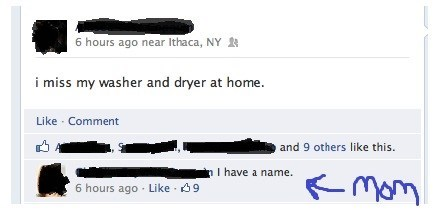 facebook,washer and dryer,mom