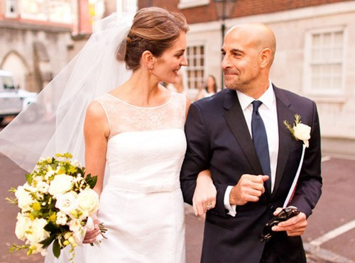 Stanley Tucci and Felicity Blunt Get Fancy